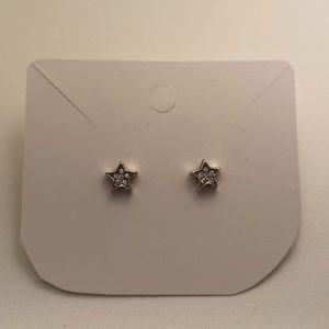 Star silver stud earrings